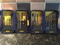 2 boxed sets of Irwin Drills
