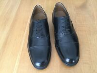 CLARKS GENTS BLACK LEATHER SHOES (NEW)