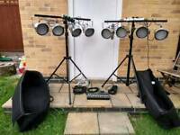 Complete band led lighting rig
