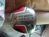 Callaway big bertha 460 driver - 9 degree Adila NVS stiff flex shaft