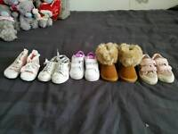 Baby girl shoes for sale sizes 3 - 4