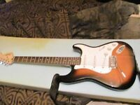 Squire by Fender Stratocaster Tobacco Burst, VGC