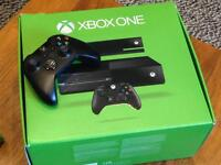 X box one with Kinect and additional controller