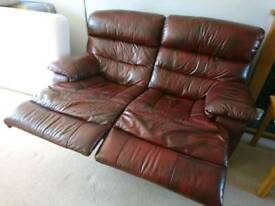 3 seater electric recliner and a 2 seater recliner (manual )