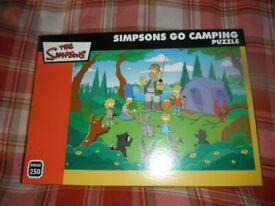 Simpsons Go Camping Puzzle.