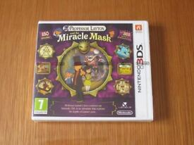 Professor Layton and the Miracle Mask - Nintendo 3DS + 2DS Game - NEW & SEALED - Fun Kids Childrens