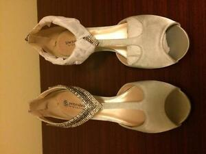 Silver Bridal shoes size 10 - Brand new never worn! Oakville / Halton Region Toronto (GTA) image 3