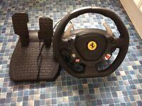 Thrustmaster Ferrari 458 Italia Gaming Steering Wheel + pedal Xbox 360/PC