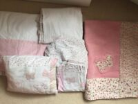 Girls Laura Ashley Butterfly bedding, curtains, cushion and rug