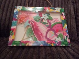 Photo booth props - Let's Flamingo! Brand new, still in box from paperchase