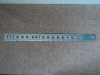 FRONT CONTROL PLATE FOR 1973 FENDER SUPER REVERB AMPLIFIER