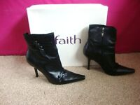 'Faith' ladies size 6 leather boots