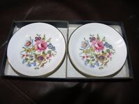 Pair Of Royal Worcester Bone China Plates In presentation Box