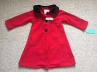 New with tags girls fleece coat - 2-3 years
