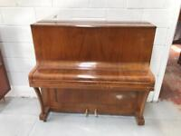 Vintage walnut upright Overstrung iron framed piano