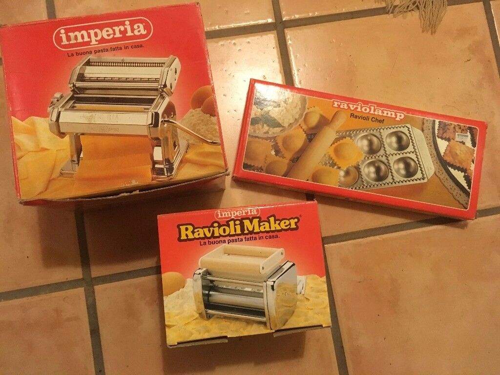 Pasta making machine, Ravioli attachment and ravioli mould