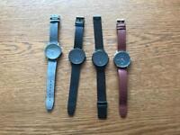 Men's Kartel Watch 40mm leather Milanese loop job lot