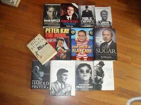 Film and celebrity books.