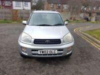 2002 Toyota RAV4 2.0 VVT-i VX 5dr Automatic @07445775115