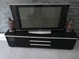 TV + Wall Unit Black Gloss