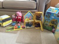 Collection of peppa pig toys in excellent used condition