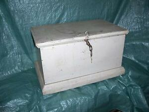 PRICE REDUCED ** Antique Pine Blanket Box - Circa 1879