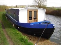 Canal wide beam boat 2016
