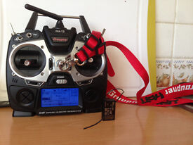 RC Transmitter & Receiver for Airplanes and Quadcopters