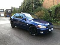 2002 LEXUS IS 200 MANUAL BLUE - HEATED SEATS - FULL SERVICE HISTORY