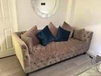 Velvet Chesterfield 4 Seater Sofa