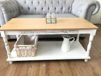 FRENCH PROVENCE COFFEE TABLE FREE DELIVERY LDN🇬🇧🇬🇧solid oak