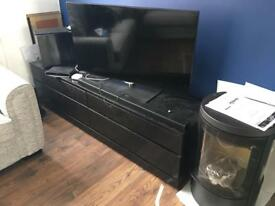 Black (wenge) solid wood tv unit with infrared link