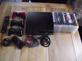 SLIM PLAYSTATION 3 250GB BUNDLE WITH GAMES AND EXTRAS