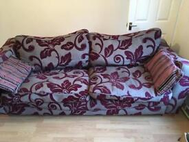 Large 3 seater dfs sofa