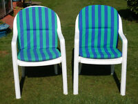 Pair of Garden/Patio Chairs with cushions.