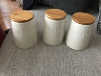 Tea sugar and coffee jars kitchen accessories
