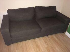 Three seater grey sofa £50