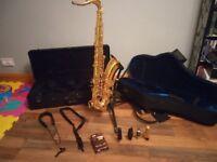Yamaha YTS-62 tenor saxophone + accessories £1500