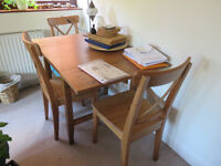 3 dining chairs (solid oak) IKEA