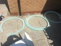 """3 lengths of 2.5"""" diameter suction hose"""