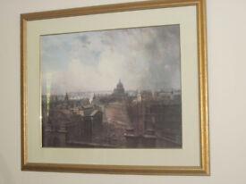 Framed Picture of London Scene