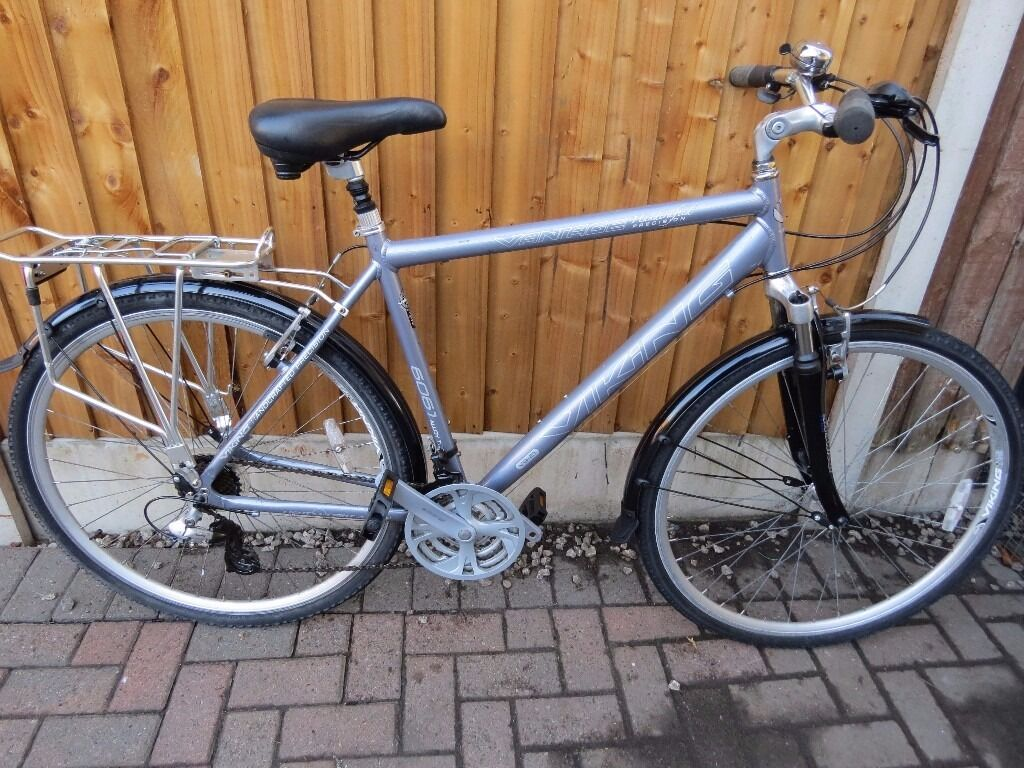 Viking Vantage Men's 21 Speed Traditional Hybrid Bike - ( Grey, 21 Inch, 700c)