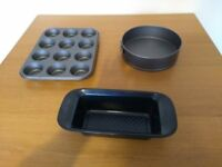 Muffin tin, cake tin & bread tin