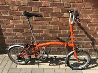 Brompton M3L Folding Bike Excellent