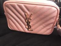 Women's YSL Handbag Shoulder Bag Pink Gold