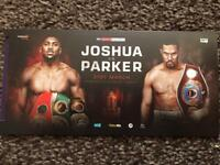 10 tickets Joshua v Parker £50 each