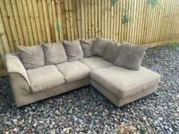 FREE DELIVERY - Fabric/cord corner sofa