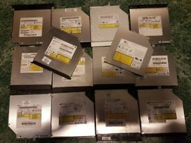 replacement optical used working internal laptop dvdrw dvd dvdr drive + & - sata or ide £5.00 each!