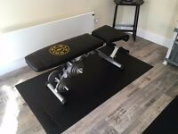 Home gym equipment for sale (weights bench / dumbbells / mats)