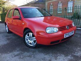 2003 VW GOLF GT TDi 130 BHP DIESEL BRIGHT RED,FULL MOT,S/H RARE CAR TEL JOSEPH 07840 187197